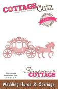 """Wedding Horse & Carriage 3""""X1.2"""" - CottageCutz Elites Die"""