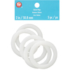 2 inches  5/Pkg - Cabone Rings WRIGHTS-Boye Cabone Rings.  Perfect for home decor and fashion accessory projects.  Available in a variety of sizes: each sold separately.  Imported.