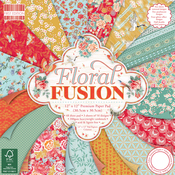 """Floral Fusion - First Edition Paper Pack 12""""X12"""" 48/Pkg"""
