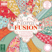 "Floral Fusion - First Edition Paper Pack 8""X8"" 48/Pkg"
