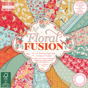 """Floral Fusion - First Edition Paper Pack 6""""X6"""" 64/Pkg"""
