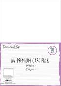 White - Dovecraft White A4 Card 50/Pkg
