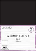 Black - Dovecraft Black A4 Card 50/Pkg