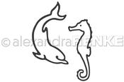 Dolphin And Seahorse - Alexandra Renke Dies