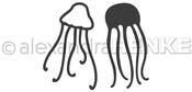 "Two Jellyfish 1.2""X1.91"", .91""X .92"" - Alexandra Renke Dies"