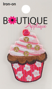 Cupcake W/Beads 1/Pkg - Iron-On Appliques