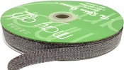 """Taupe/Silver - Grosgrain Ribbon W/ Woven Sparkle 5/8""""X30yd"""