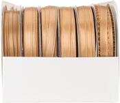 Old Gold - Spool O' Ribbon Woven Edge Solid Assortment 24/pkg