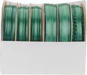 Forest Green - Spool O' Ribbon Woven Edge Solid Assortment 24/pkg