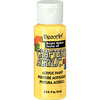 Bright Yellow - Crafter's Acrylic Gloss All-Purpose Paint 2oz DECO ART-Crafter's Acrylic Gloss Paint. This water-based acrylic paint has a gloss finish and can be used on both indoor and outdoor projects. It is ideal for most craft surfaces including wood, paper, canvas, ceramic bisque, dry wall, resin, Styrofoam, picture frames, paper mache, gift bags, furniture, and plaster. Each package contains one 2 fl.oz. bottle of paint. Available in a variety of intermixable colors (each sold separately). Non-toxic, soap and water clean up. For decorative purposes only, not food safe. Conforms to ASTM D4236. Made in USA.