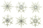 Fancy Snowflakes - Dress It Up Holiday Embellishments