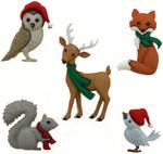 Woodland Holiday - Dress It Up Holiday Embellishments