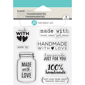 "Made With Love - Janet Dunn Clear Stamps 4""X8"""