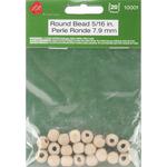 """Round Bead 7.9mm (7/64"""" Hole) 20/Pkg - Wood Turning Shapes"""