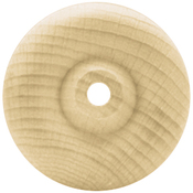 """Toy Wheel 1""""X.375"""" (1/4"""" Hole) 4/Pkg - Wood Turning Shapes"""