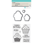 Cupcakes - Hot Fudge Stamp & Die Set