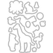 Birthday Animal Silhouettes - Hero Arts Frame Cut Dies