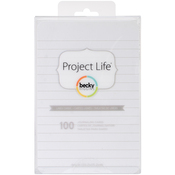 "Lined - Project Life 4""X6"" Cards 100/Pkg"