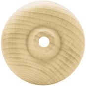 """Toy Wheel 1.5""""X1"""" (1/4"""" Hole) 4/Pkg - Wood Turning Shapes"""