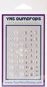 Crystal Clear & Sparkle - Your Next Stamp Gumdrops Embellishments 54/Pkg