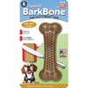 Medium - Flavorit BarkBone With Mesquite Chicken Flavor Richly flavor infused nylon bone with tiny treat cells molded in both sides. The treat cells can be filled with peanut butter, cheese, cream cheese or any other spreadable treat. The bone encourages healthy chewing while it massages the gums and cleans the teeth. It is easy for a dog to pick and hold while chewing. Wash in the top rack of the dishwasher to clean. This package contains one 2x5.5 inch bone. Made in USA.