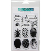 """Pop Art Pineapple - Concord & 9th Clear Stamps 4""""X6"""""""