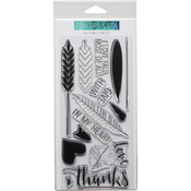 """Give Thanks - Concord & 9th Clear Stamps 4""""X8"""""""