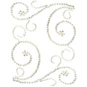 White Pearls - Want2Scrap Self-Adhesive Swirls Bling