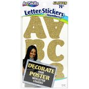 Gold Glitter - ArtSkills Self-Stick Poster Letters & Numbers 72/Pkg