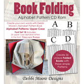 Times New Roman Alpha 1B, Upper - Debbi Moore CD Rom Book Folding Patterns