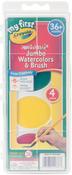 Red, Yellow, Green & Blue - My First Crayola Washable Jumbo Watercolors & Brush Set