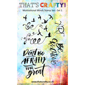 Set 1 - That's Crafty Motivational Words Clear Stamp Set