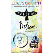 Set 2 - That's Crafty Motivational Words Clear Stamp Set