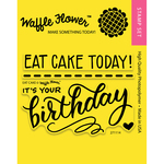 """Eat Cake - Waffle Flower Crafts Clear Stamps 3""""X4"""""""
