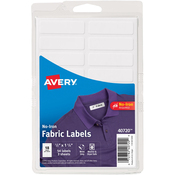 White - No-Iron Handwrite Fabric Labels 3 Sheets