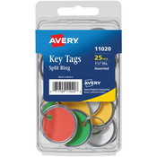 Assorted - Metal Rim & Ring Key Tags 25/Pkg