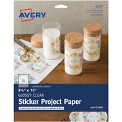 "Clear - Full-Sheet Sticker Project Paper 8.5""X11"" 7 Sheets"