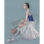 """15.75""""X19.75"""" 14 Count - Ballerina Counted Cross Stitch Kit"""