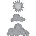 Sun & Clouds - Spellbinders Shapeabilities Die D-Lites