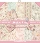 "Shabby Rose, 10 Designs/1 Each - Stamperia Double-Sided Paper Pad 12""X12"" 10/Pkg"