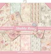 """Shabby Rose, 10 Designs/1 Each - Stamperia Double-Sided Paper Pad 12""""X12"""" 10/Pkg"""