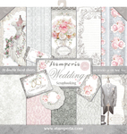 "Wedding, 10 Designs/1 Each - Stamperia Double-Sided Paper Pad 12""X12"" 10/Pkg"
