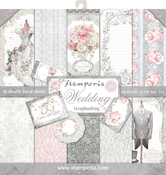 """Wedding, 10 Designs/1 Each - Stamperia Double-Sided Paper Pad 12""""X12"""" 10/Pkg"""