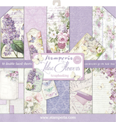 """Lilac, 10 Designs/1 Each - Stamperia Double-Sided Paper Pad 12""""X12"""" 10/Pkg"""