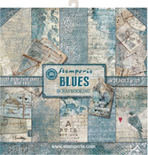 "Blues, 10 Designs/1 Each - Stamperia Double-Sided Paper Pad 12""X12"" 10/Pkg"