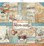 "Around The World, 10 Designs/2 Each - Stamperia Double-Sided Paper Pad 12""X12"" 10/Pkg"