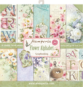 "Flower Alphabet, 10 Designs/1 Each - Stamperia Double-Sided Paper Pad 12""X12"" 10/Pkg"