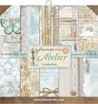 "Atelier, 10 Designs/1 Each - Stamperia Double-Sided Paper Pad 12""X12"" 10/Pkg"