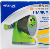 Green & Gray, Antimicrobial - Westcott iPoint Titanium Bonded Manual Pencil Sharpener