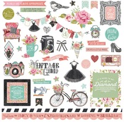 Vintage Girl Element Stickers - Photoplay